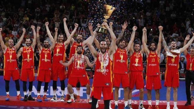 Spagna campione del mondo di basket (Ansa)