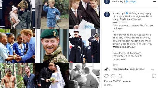Il post di Meghan Markle per festeggiare i 35 anni del principe Harry