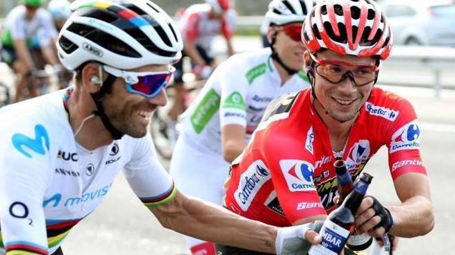 Valverde e Roglic (Ansa)