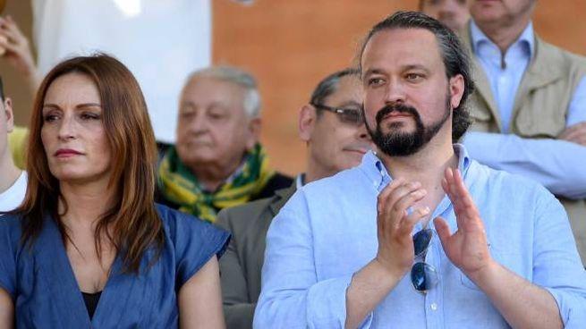 Lucia Borgonzoni e Alan Fabbri della Lega (Foto Businesspress)