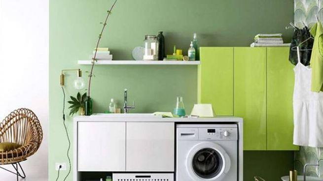 creare un angolo lavanderia in casa
