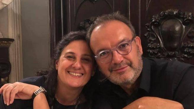 Rodolfo Betti in un momento felice con la moglie Liuba