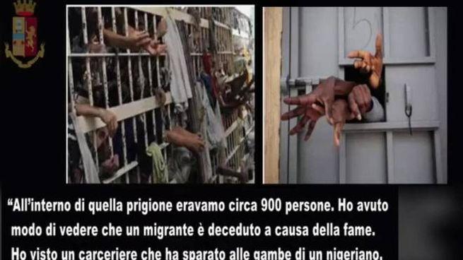 Il centro di detenzione libico, il racconto (Ansa)
