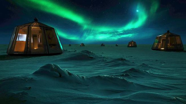 Il resort al polo nord - Foto: northpoleigloos.com