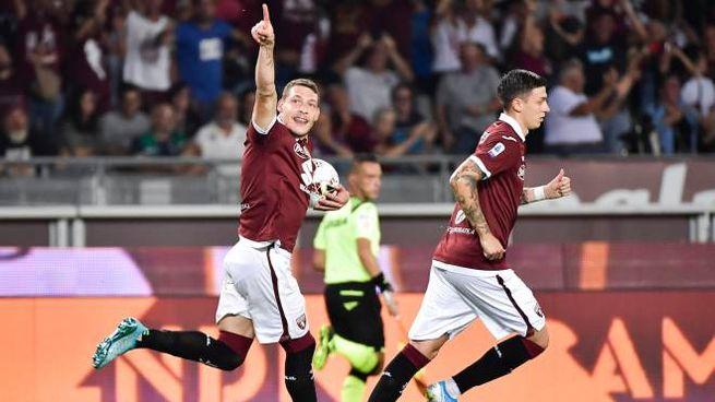 Andrea Belotti esulta dopo il gol (LaPresse)