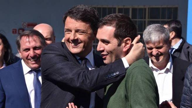 Matteo Renzi e Marco Di Maio, entrambi lasciano il Pd (foto Frasca)