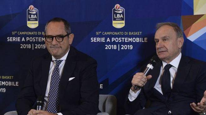 Egidio Bianchi con Gianni Petrucci
