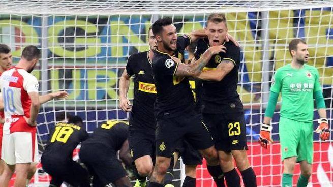 Inter Slavia P., pareggio di Barella nel recupero (Ansa)
