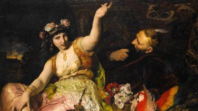 Sheherazade e il sultano Schariar, di Ferdinand Keller (1880)