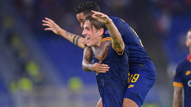 Roma-Basaksehir 4-0, la festa di Zaniolo (LaPresse)