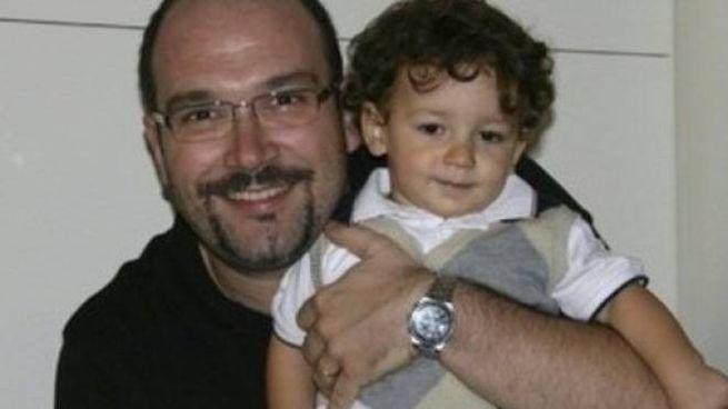 Andrea Albanese con il figlio Luca, morto nel 2013