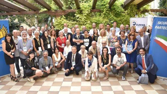 Foto di gruppo dell'Eunwa, rete europea del controllo di vicinato