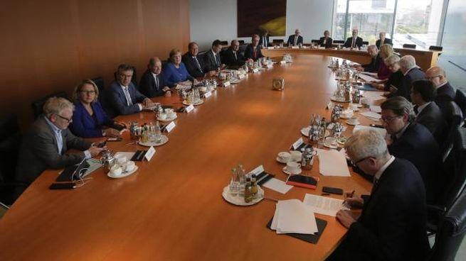 Gabinetto del clima alla cancelleria di Berlino (Ansa)