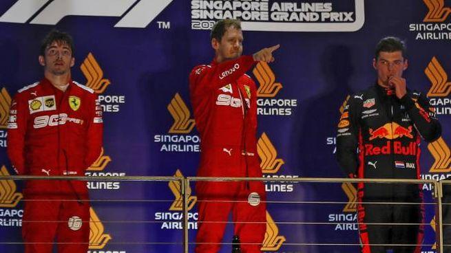 Vettel vince il Gp di Singapore 2019 (Ansa)