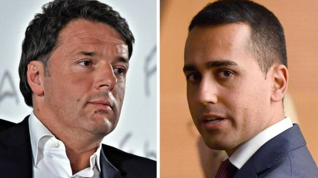 Combo: Matteo Renzi e Luigi Di Maio (Ansa)