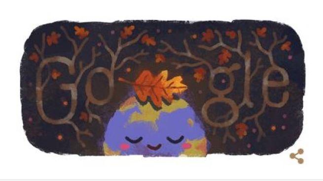 Stagione autunnale, il doodle di Google