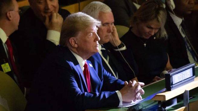 Clima, Donald Trump all'Onu (foto Lapresse)