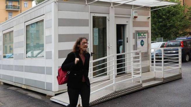 La banca mobile è stata assaltata dai ladri nel weekend (foto Schicchi)