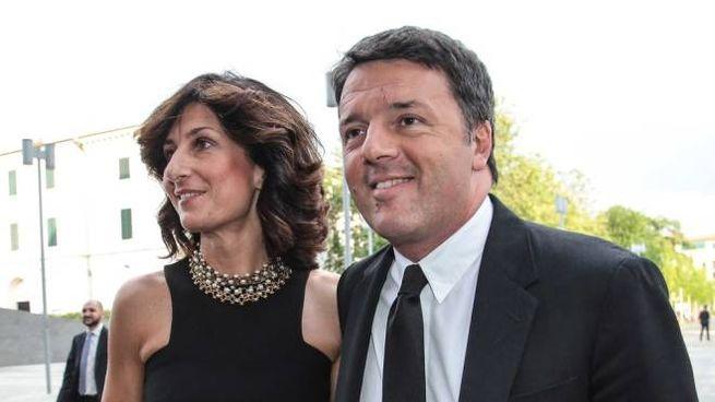 Matteo Renzi con la moglie Agnese Landini (Pressphoto)