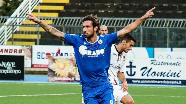 Zamparo esulta dopo il gol