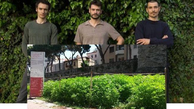 I tre autori e il labirinto prima del taglio