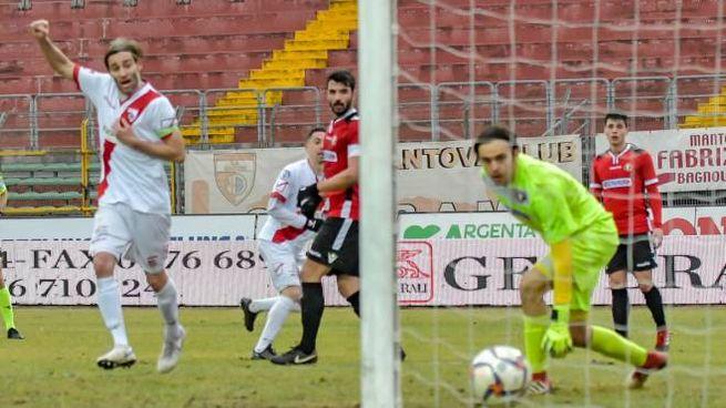 Cristian Altinier è tornato in campo siglando un gol nel match vinto col Sasso Marconi