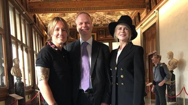 Nicole Kidman agli Uffizi