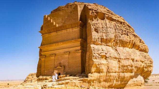 """L'antica città di Mada'in Saleh in Arabia Saudita, """"la seconda Petra"""""""