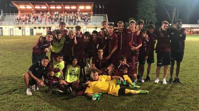 La squadra under 15 del Livorno che partecipa al campionato nazionale