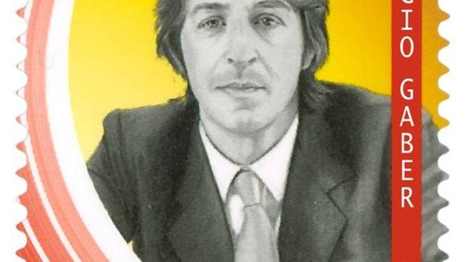 Francobollo dedicato a Giorgio Gaber (foto Poste Italiane)