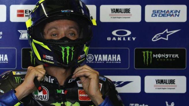MotoGp, Valentino Rossi in Thailandia (foto Ansa)
