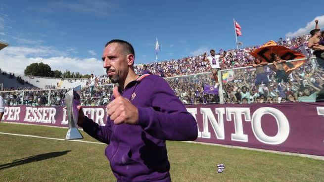 "Franck Ribéry davanti alla ""Fiesole"" (Germogli)"