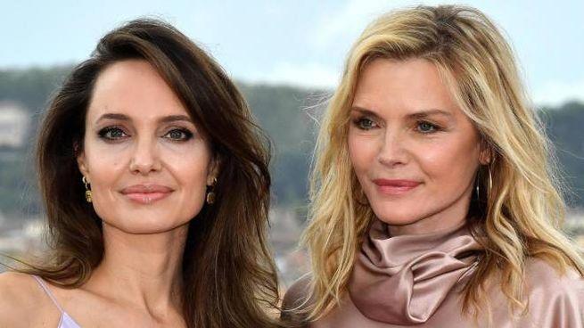 Angelina Jolie e Michelle Pfeiffer a Roma (Ansa)