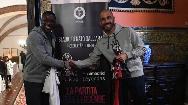 Bologna Legends Real Madrid, Seedorf e Di Vaio (FotoSchicchi)