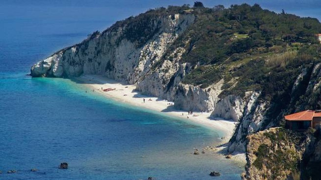 La spiaggia di Capo Bianco, all'Isola d'Elba