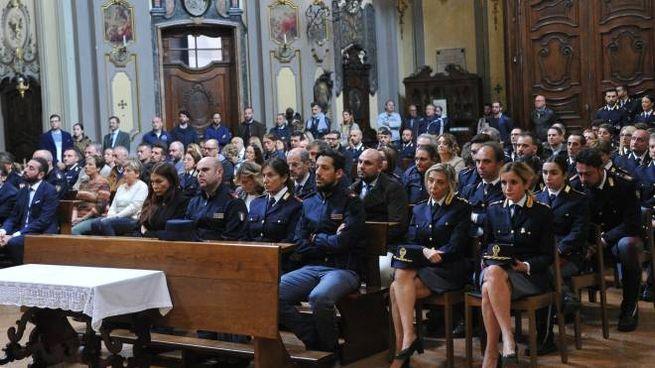 La cerimonia nella chiesa di via Manzoni