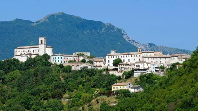 Una veduta panoramica di Sassoferrato, nelle Marche