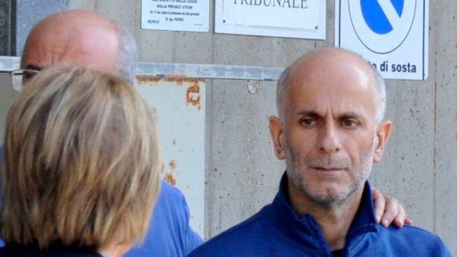 Primo Romagnoli, in tribunale per l'udienza di convalida (foto Calavita)