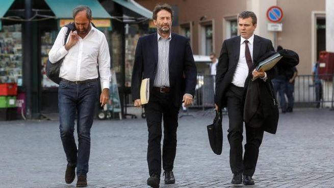 Dario Franceschini arriva a Palazzo Chigi per il Cdm (Ansa)