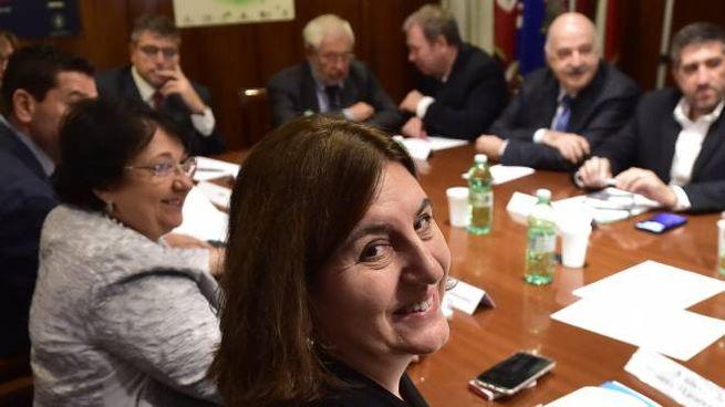 La ministra Nunzia Catalfo al vertice con i sindacati (Imagoeconomica)