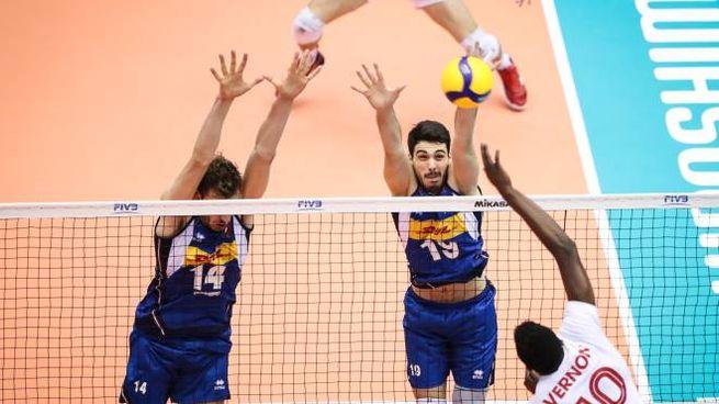 Una immagine del match (foto Fipav)