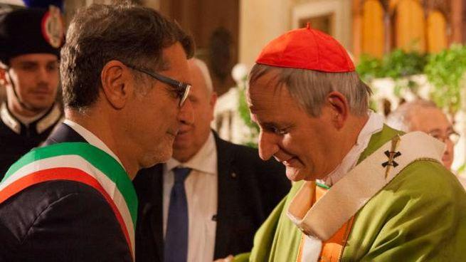 Il sindaco Virginio Merola con il cardinale Matteo Zuppi (FotoSchicchi)
