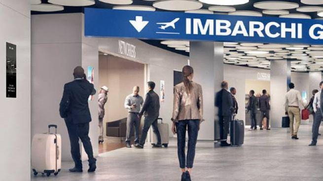 """Un rendering della """"Nuova Linate"""" che sarà pronta a metà del 2021"""