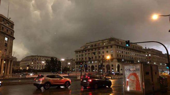 Maltempo, allerta meteo arancione a Genova (foto Dire)