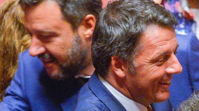 Matteo Salvini e Matteo Renzi (ImagoE)