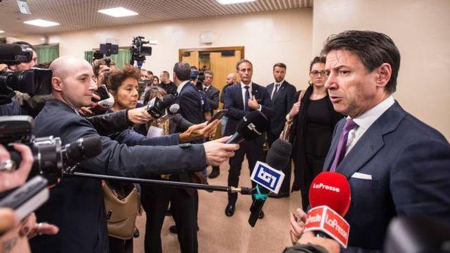 Giuseppe Conte al termine della relazione annuale del Cnr (LaPresse)