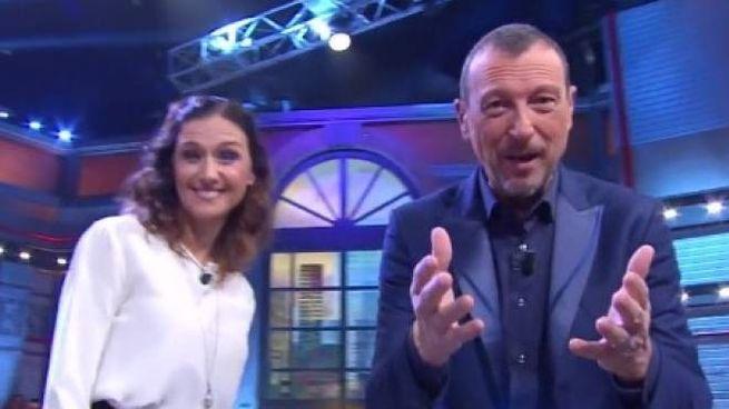 Il bel sorriso di Francesca durante la trasmissione