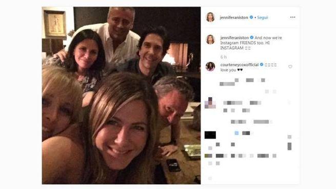 Il primo post su Instagram di Jennifer Aniston