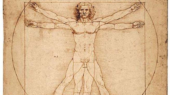 L'Uomo Vitruviano di Leonardo da Vinci (Ansa)