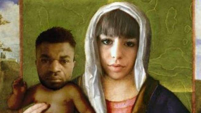 Il quadro con i volti di Pamela e Oseghale diffusa su Fb dall'avvocato della famiglia